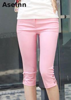 2019 Summer New Fahison Capris Casual Calf-length Pants Female Plus Size S-3xl White Black Women Pants 1