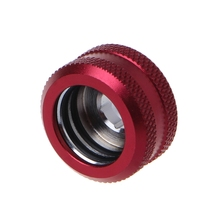 Water Cooling G1/4 Thread OD 16mm Rigid Hard Tube Extender Connector Fittings female 1 4 28unf plastic connector y fittings ptfe for hard tube manufacture