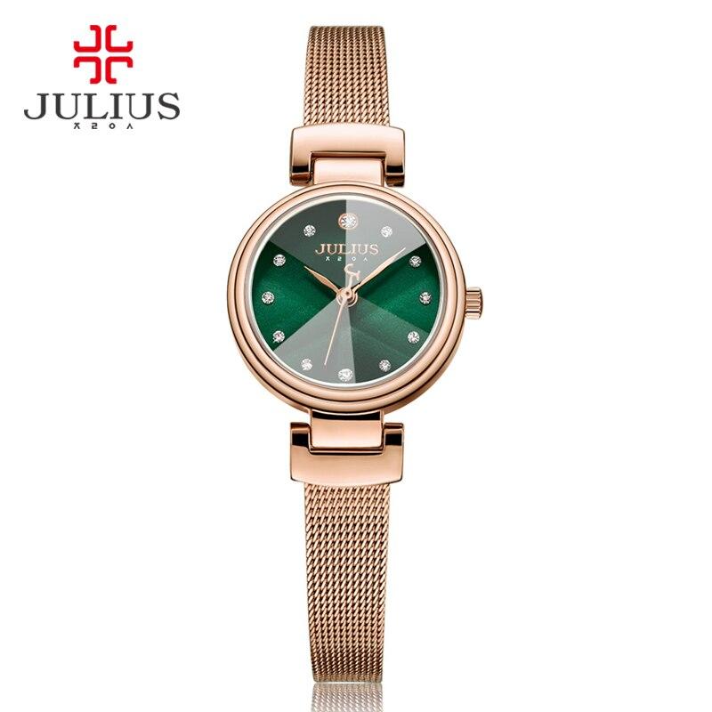 2a56c8733e2d6 Júlio de Quartzo Pulseira para Mulheres Caro Whatch Assistir Relógio de  Senhoras 2017 Novo Design Coreano Direto da Fábrica Dropshipping Ja-1020