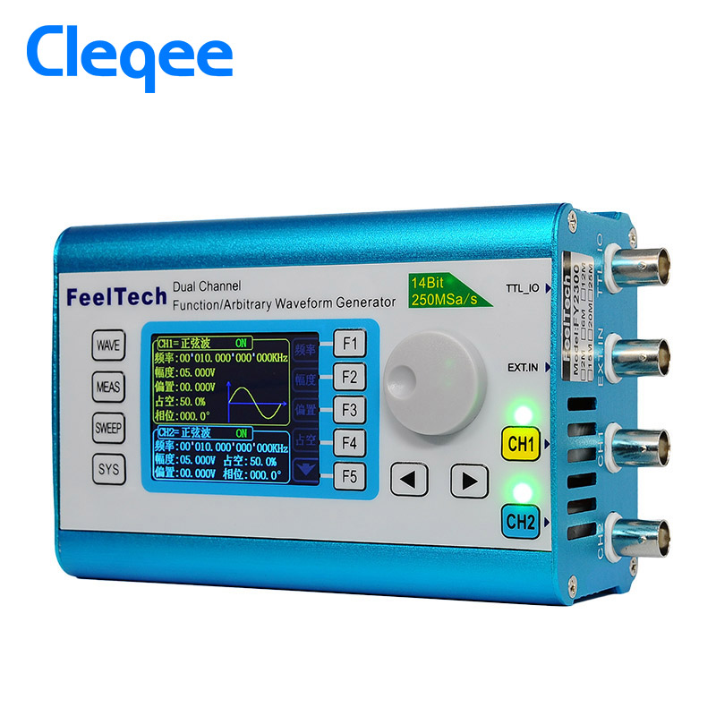 FY2300H 25MHz Arbitrary Waveform Dual Channel High Frequency Signal Generator 250MSa/s 100MHz Frequency meter DDS