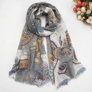 Image 3 - 女性の綿のスカーフ春女性のショール薄型夏エスニックスタイルの女性教徒ヘッドスカーフスカーフ秋
