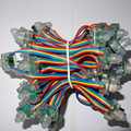 50pcs DC5V 12mm WS2801 led smart pixel node,with all color wire(20AWG),IP68 rated