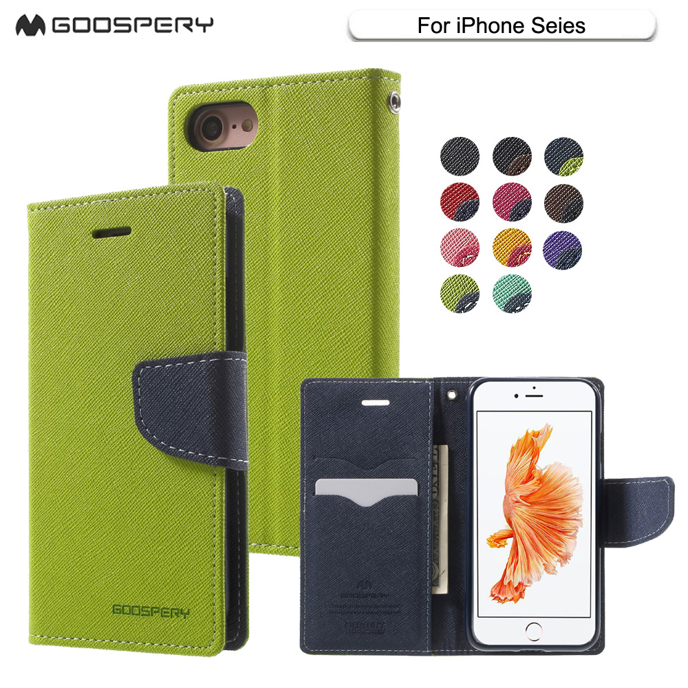Mercury Goospery Coque Leather Wallet Flip Case Cover With Card Iphone 5 Style Lux Jelly Black For X 5s Se 6 4s Fancy Diary Phone