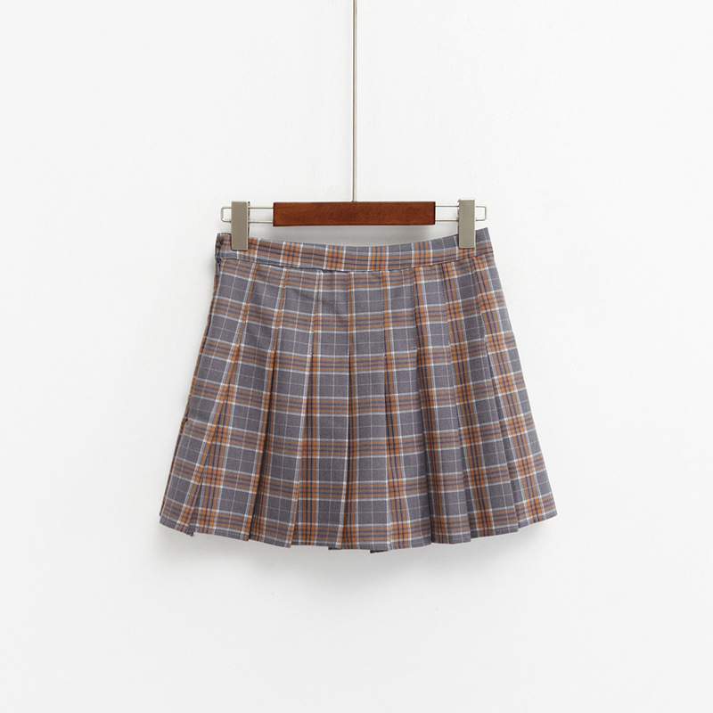 Bodycon Pink Blue Brown Cute Preppy Student Mini Skirt Sweet