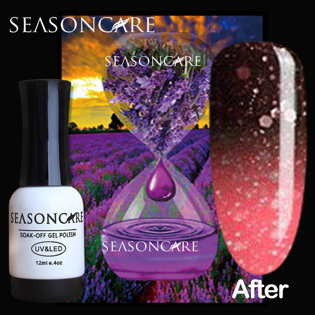 SEASONCARE beauty pure Healthy brand-Lavander extracted Soak Off 10ml Gel Polish change color DIFFERENCE NATURAL