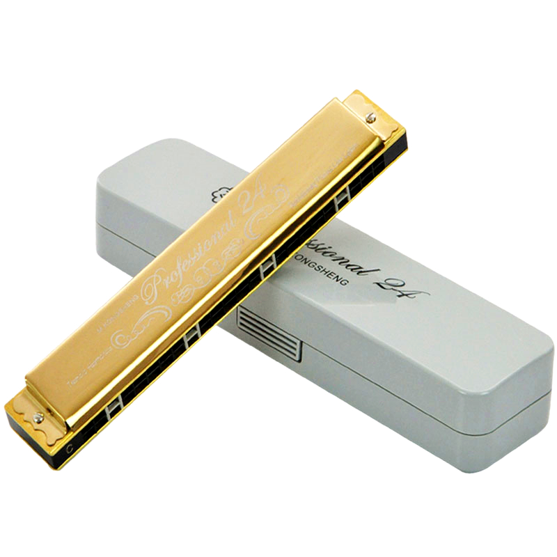 Kongsheng 24 Holes Tremolo Harmonica Instrumento Musical Armonica Woodwind Instruments M ...