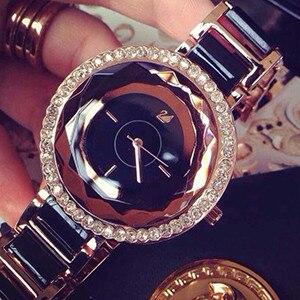 2015 New Women Ceramic font b Watches b font Luxury Rhinestone font b Watch b font