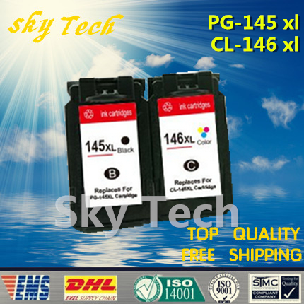 One set Remanufactured ink cartridge suit for PG145 CL146 , suit for Canon MG2410 MG2510 printer . Full Filled image