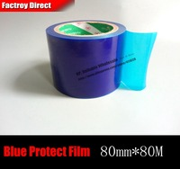 80mm 80M 0 05mm Stainless Metal Sink Surface Mask Protecting Film Adhesive Tape Blue