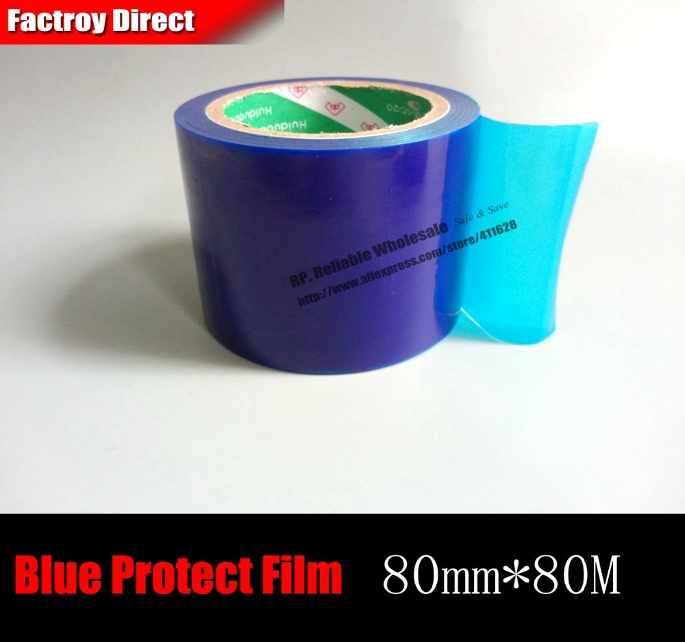 80mm* 80M*0.04mm Stainless Metal Sink Surface Mask Protecting Film Adhesive Tape Blue ангельские глазки 80 mm