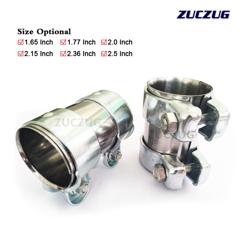 automotive exhaust pipe joiner clamp
