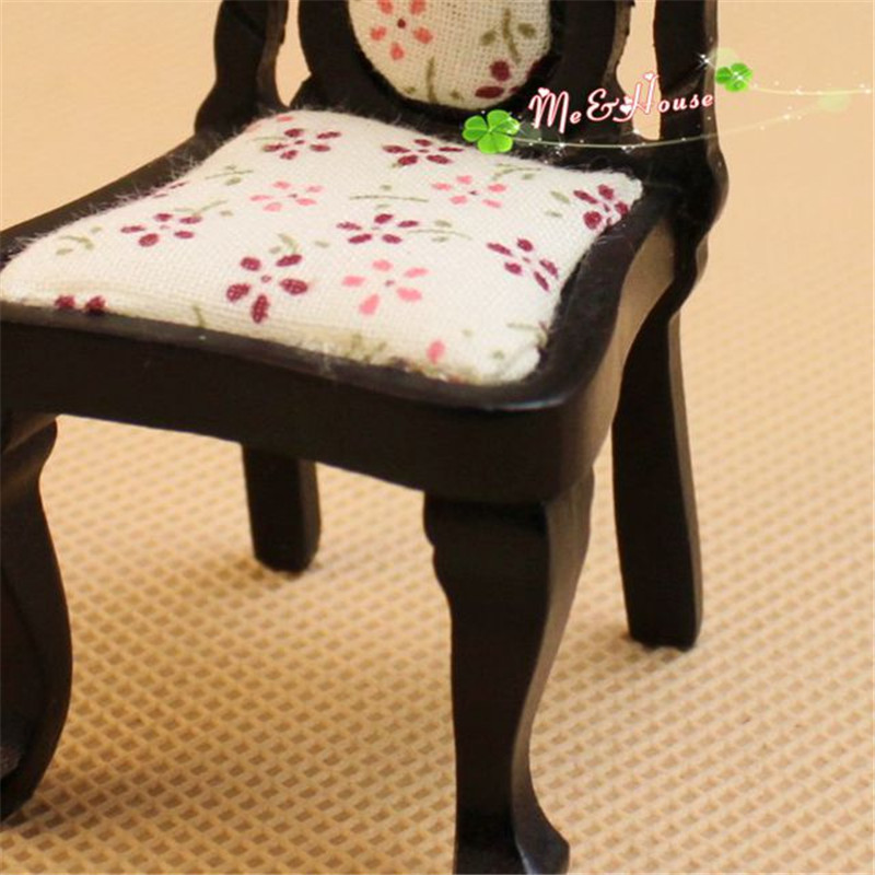 1:12 wooden miniature chair for Dolls dollhouse furniture toy mini chair model pretend play toys for girls children kids gifts