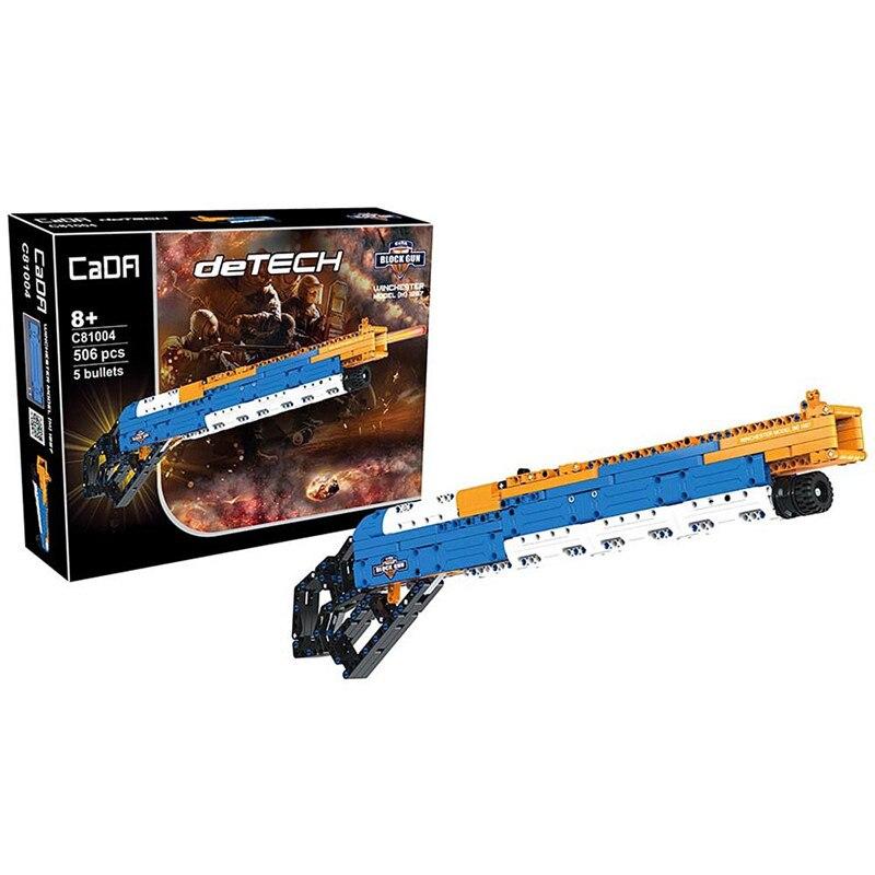 Nouveau 506 pièces Puzzle intelligent blocs bloc de construction pistolet fusil de chasse doux enfant jouet