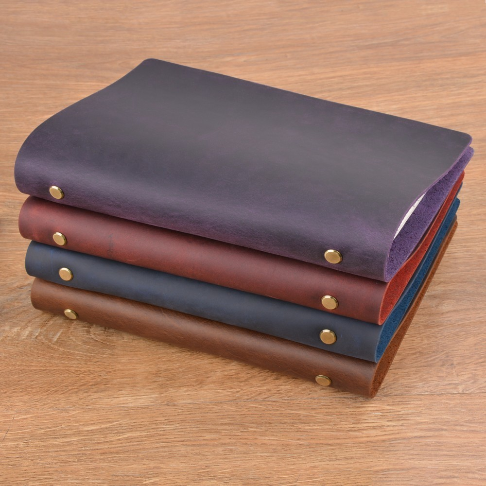 Hot Sale Classic Leather Rings Binder Notebook A5 Top