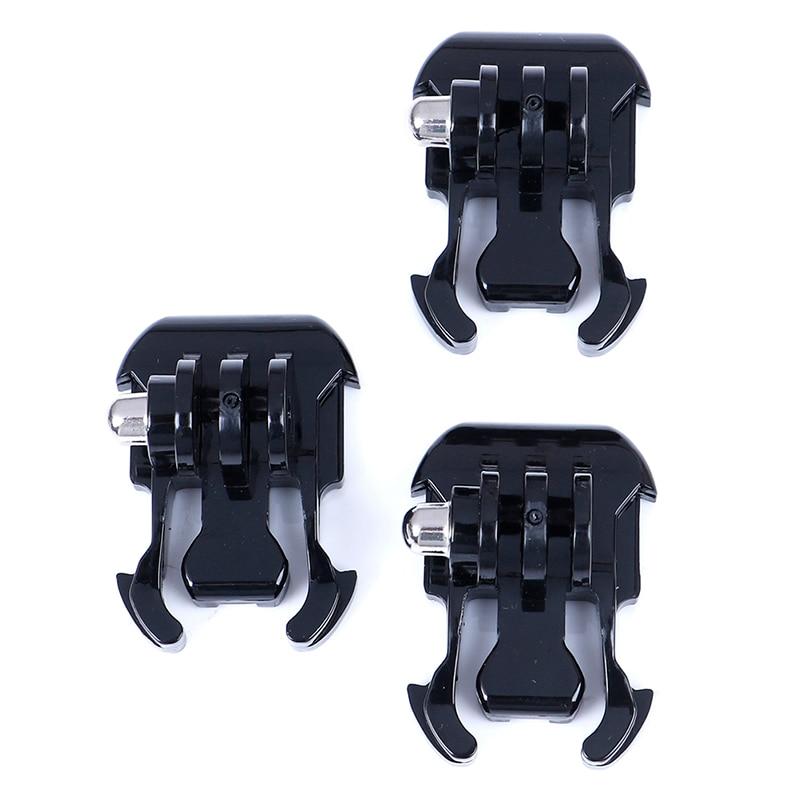 3Pcs Helmet Chest Strap Adapter For Go Pro Hero 4 3 Xiaomi Yi SJCAM Quick Release Gopro Buckle Basic Mount Flat Buckle Clip
