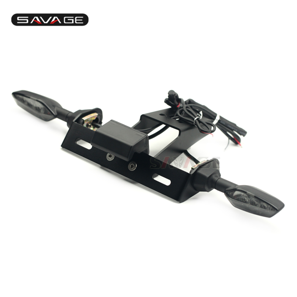 License Plate Holder With Turn Signal For KAWASAKI NINJA 636 ZX-6R ZX-10R NINJA Motorcycle Rear Tail Tidy/Fender Eliminator Kit 19mm front brake radial brake master cylinder for kawasaki zx 6r ninja zx 10r z750r zx 14r zz r 1400 motorcycle accessories