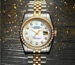 37mm Sangdo zegarek biznesowy automatyczny mechanizm samoczynnego wiatru wysokiej jakości zegarki mechaniczne zegarek męski 036A