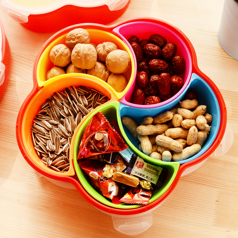 Household Candy Fruit Plate Snacks Food Container With Lid ...