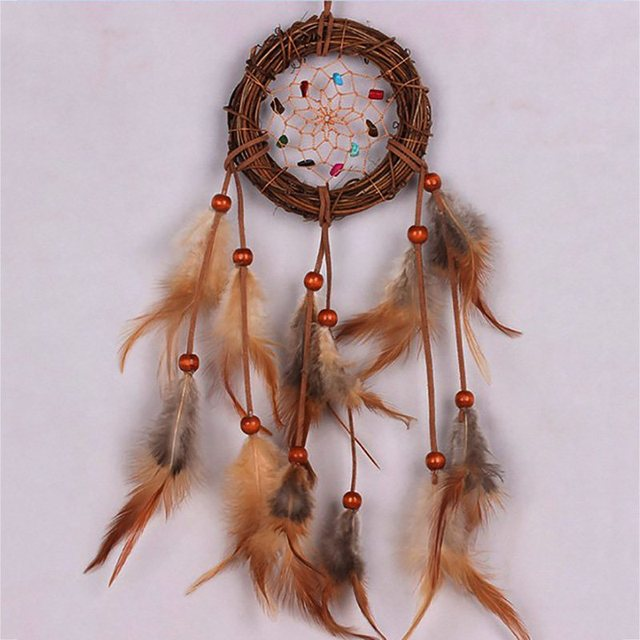 Traditional Dream Catcher Handmade Beaded Feathers Approx 40940 Simple How To Make Authentic Dream Catchers