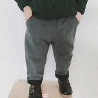 Boys Pants Children Trousers Toddler Girls Autumn Winter Warm Woolen Pants Kids Fashion Korean Style Baby