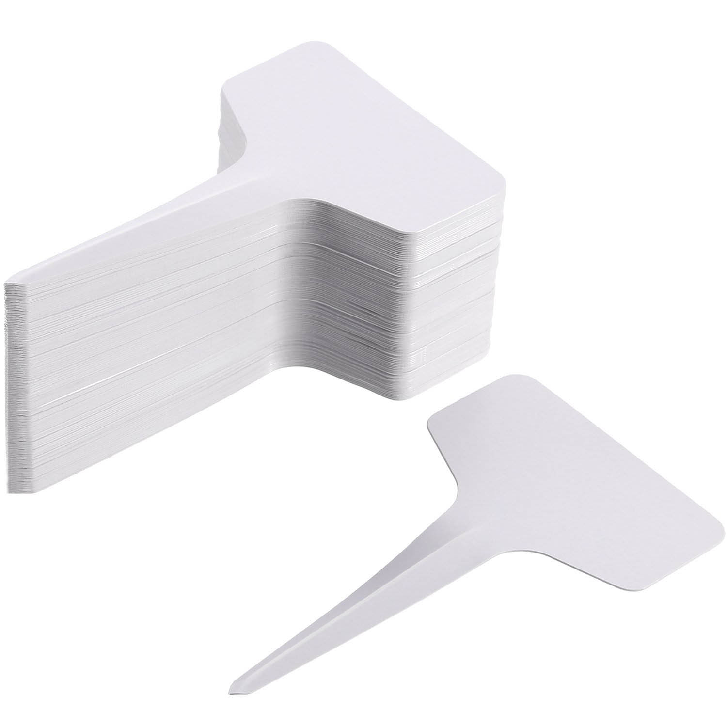 Hot Sale 200 Pack 6 X 10 Cm Plant T-type Tags Plastic Garden Labels Tags Marker Waterproof, White