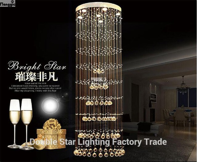 Modern crystal chandelier large led lamps long big chandeliers modern crystal chandelier large led lamps long big chandeliers holders luxury villa hotel lamps big hanging aloadofball Image collections
