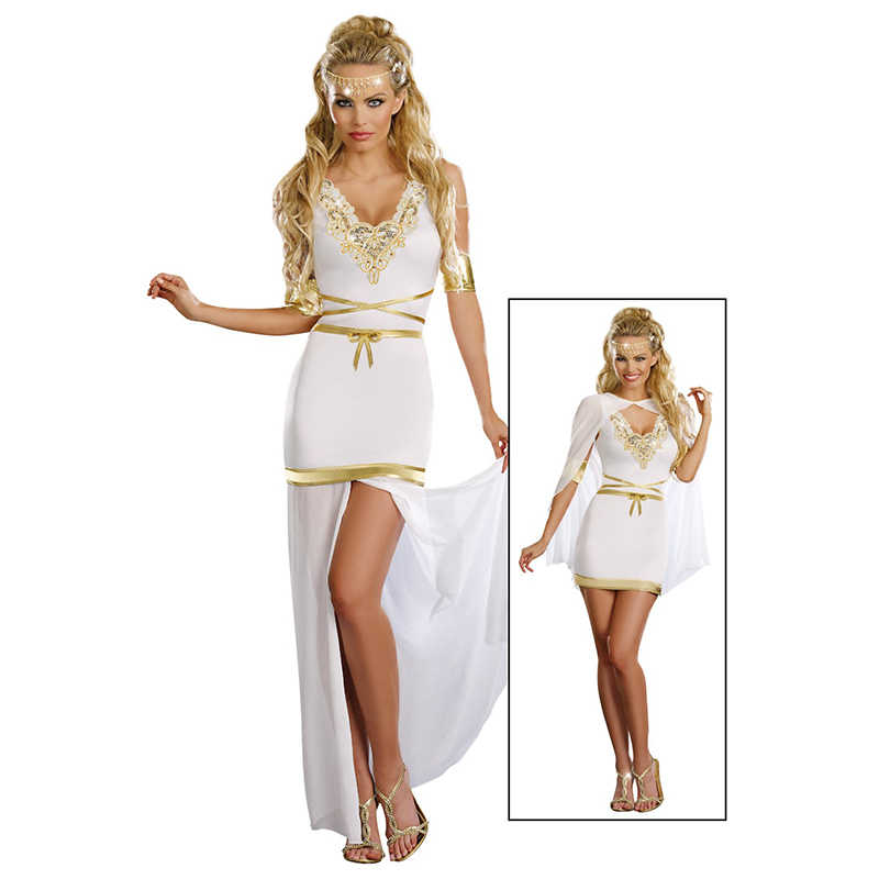 Greek Goddess Of Love Costume Adult Aphrodite Halloween Fancy Dress Elegant Fashion Cosplay Queen Role Play Dress Sexy Costumes