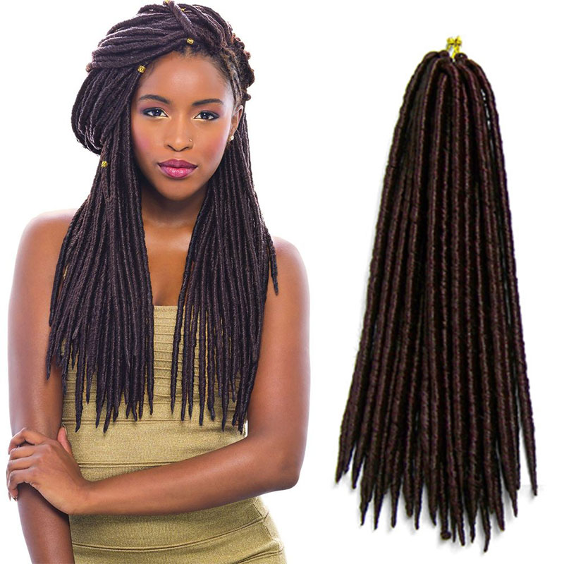Best Quality Synthetic Hair Extension Soft Dread Lock Hair Afro