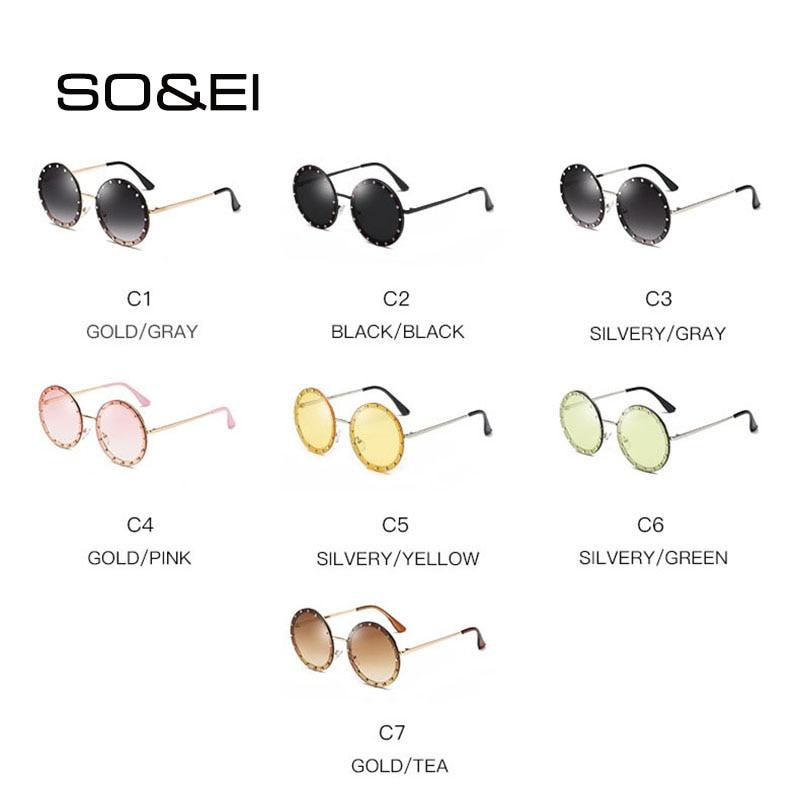 SO amp EI New Fashion Trend Round Diamond Women Sunglasses Personalized Decoration Street Shot Sunshade UV400 Men Sun Glasses UV400 in Women 39 s Sunglasses from Apparel Accessories
