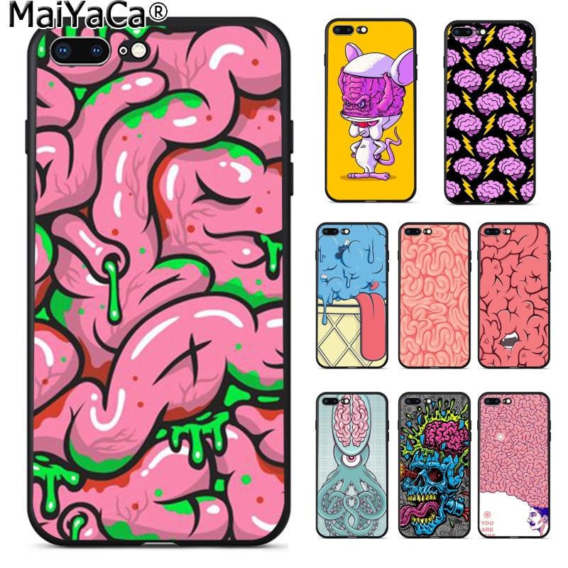 MaiYaCa человека анатомия мозга ультра тонкий мультфильм шаблон чехол для телефона для Apple iPhone 8 7 6 6 S Plus X XS MAX 5 5S SE XR крышка