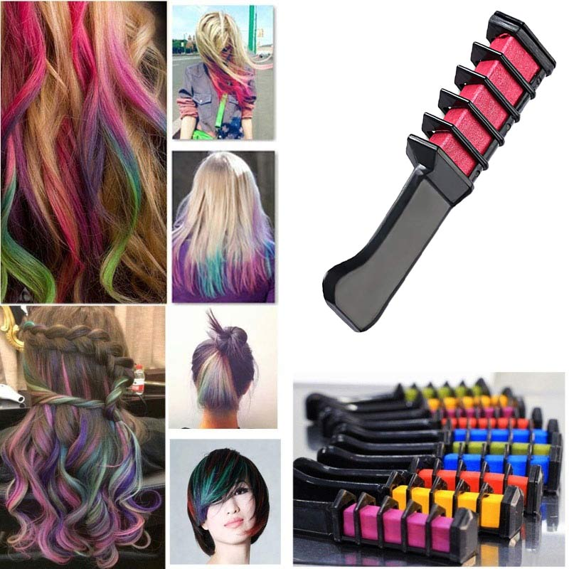 New Temporary Hair Dye Color Mini Instant Hair Chalk Comb Shimmer Cream for Party Cosplay DIY Crayons Styling Tools  H7JP