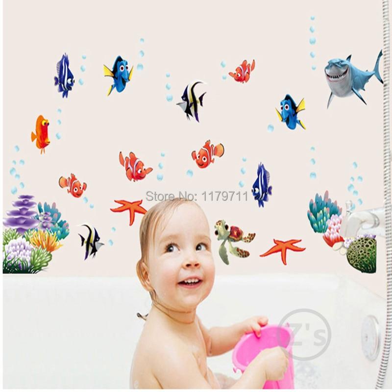 Zs Sticker nemo ձկան մուլտֆիլմ պատի - Տնային դեկոր - Լուսանկար 5