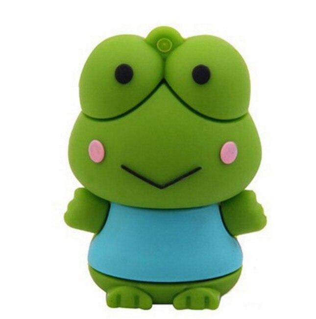 Usb Stick USB flash drive 8GB 16GB 32GB 64GB 128GB Cartoon frog USB Flash 2.0 Memory Drive Stick