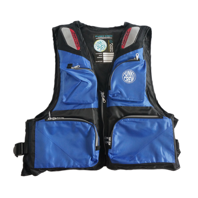 ФОТО 2015 High Quality Fishing Vests Waterproof Mesh Breathable Fishing Vest Black and Blue Patchwork Plus Size Vests XIYAN021