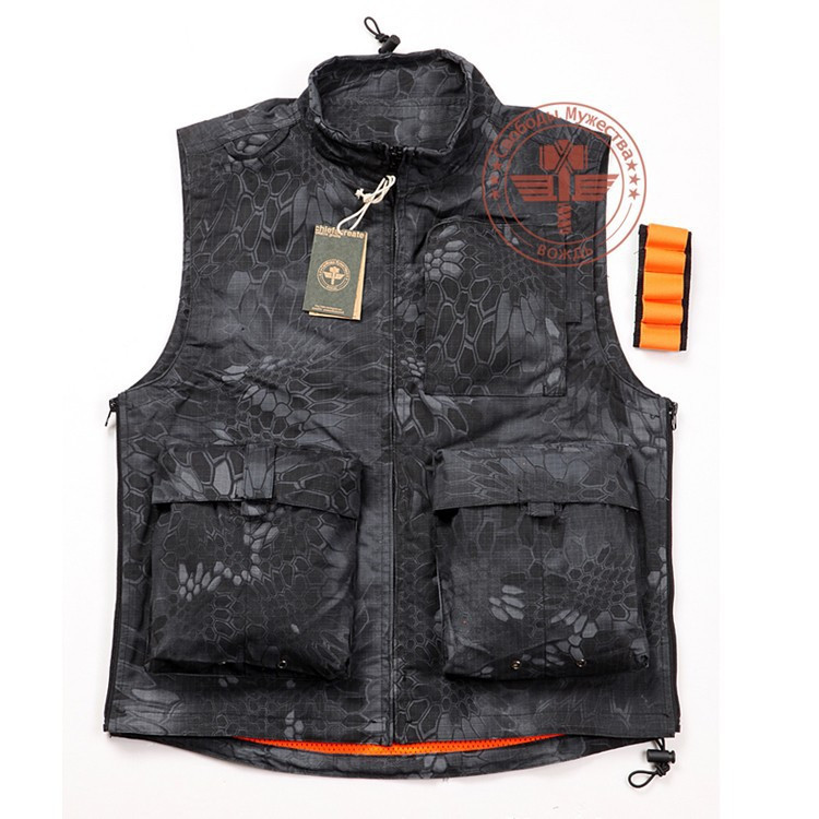 New arrival Rattlesnake Tactical Airsoft Hunting Shooting Vest Men's Sport Vest Outdoor Motocycle Riding Vest