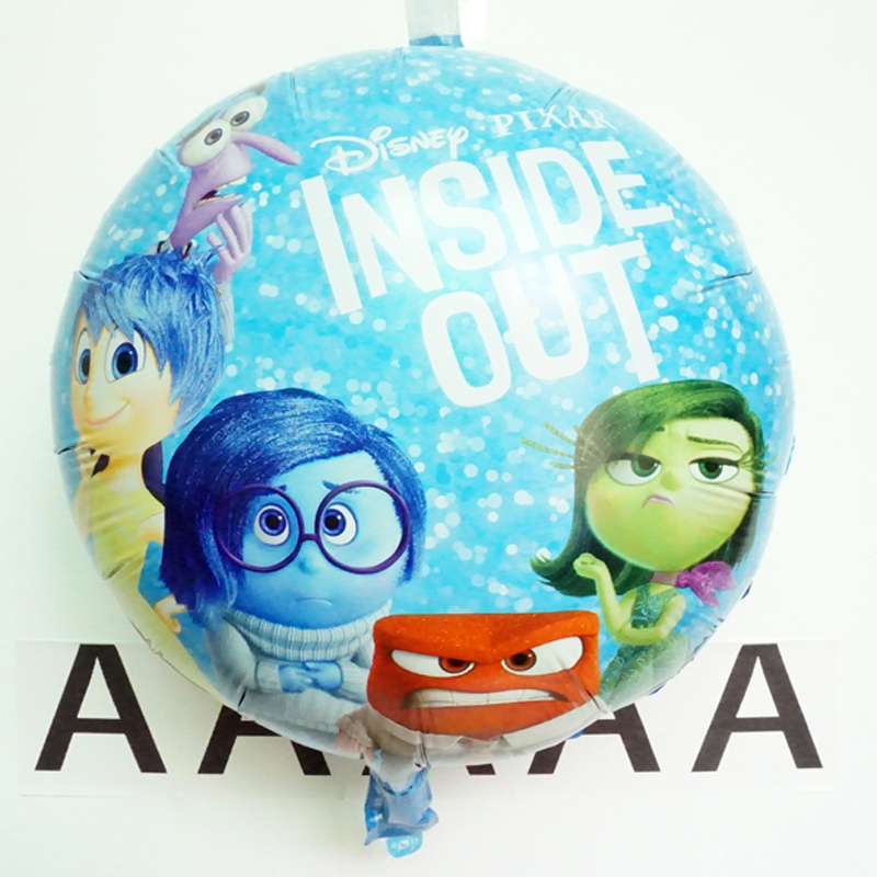 5pc/lot birthday balloons movie inside out balloon toys joy anger sadness disgust act role globos for birthday party baloes