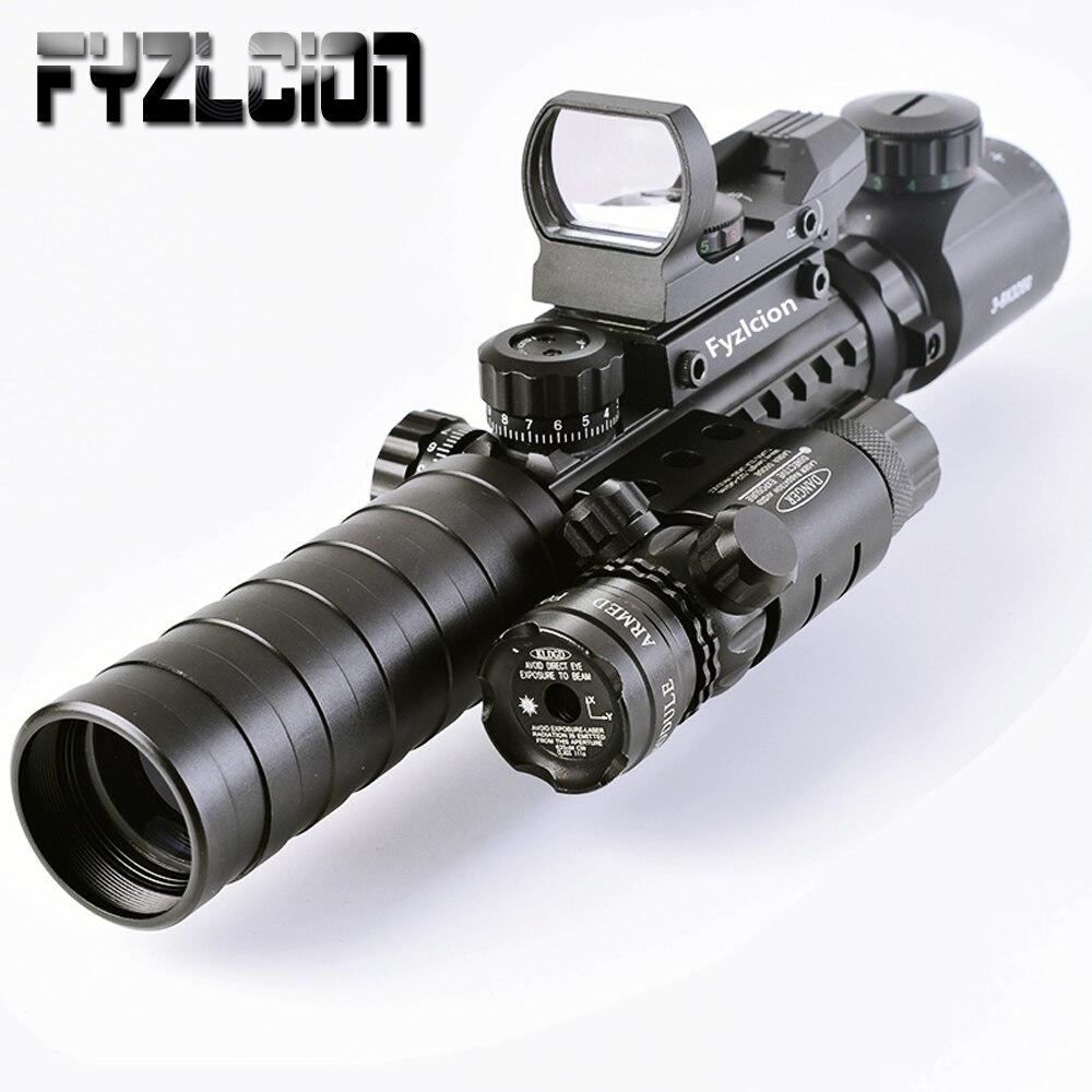 Lunette de visée tactique 3-9X32EG longue portée point rouge Laser/point rouge/vert viseur réflexe holographique 3 en 1 Combo pour fusil/Airsoft