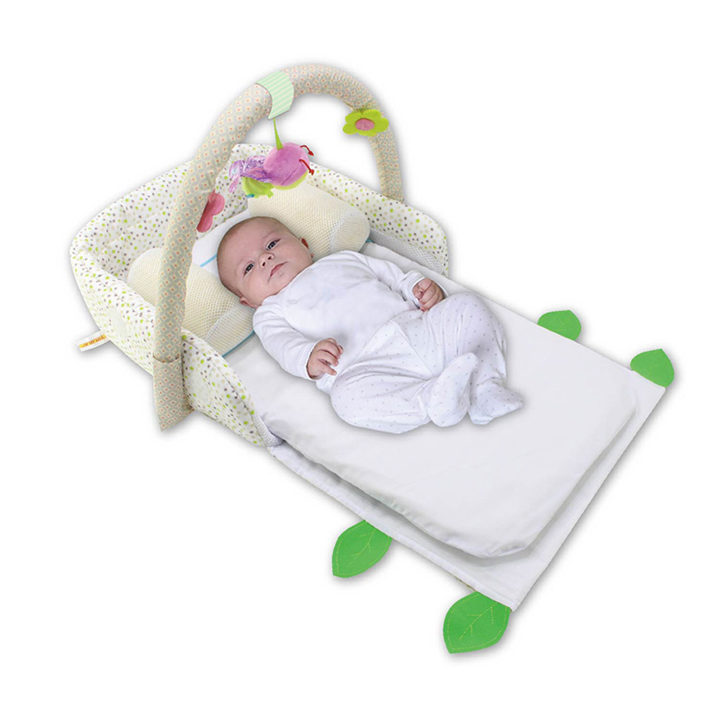 Portable Baby Crib Nursery Outdoor Travel Folding Bed Infant Toddler Cradle Storage Bag S7JN