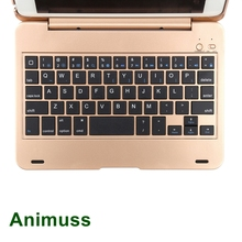 ANIMUSS Wireless Keyboard for iPad Mini Case Folio Flip Smart Cover 4 with Folding Stand Silent Typing