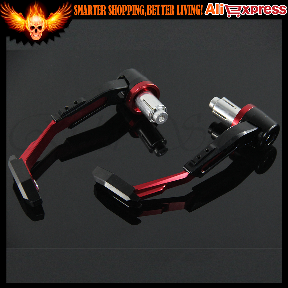 ФОТО CNC Motorbike Handgrip Guard Motorcycle Proguard System Brake Clutch Levers Protect Guard For HONDA MV AGUSTA Red