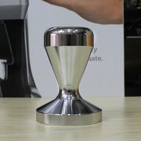 58mm Stainless Steel Adjustable Coffee Tampers Flat Base Coffee Press Powder Hammer Espresso Grind Tamper Barista Tool