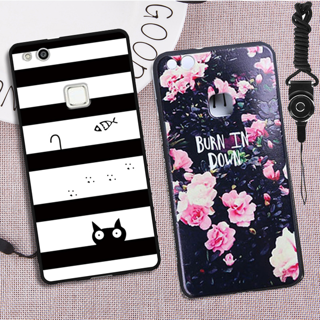 new arrival c4fba 6671c US $3.29 |Case Huawei P10 lite Case Cover 18 Patterns Silicone Soft Cover  For Huawei p10 lite Case Original 100% BiNFUL-in Half-wrapped Case from ...