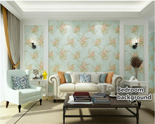 beibehang Warm and simple pink roses wall paper bedroom living room hotel pastoral flowers embossed papel de parede 3d wallpaper beibehang papel de parede modern simple pure plain stripe pink green blue white bedroom parlor hotel walkway gallery wall paper