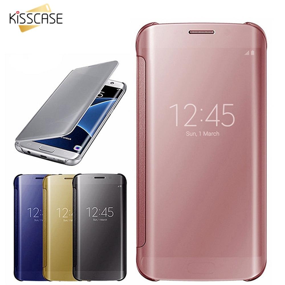 KISSCASE Mirror Flip Case For Samsung Galaxy A5 A3 A7 2017 Original Phone Case For Samsung Galaxy S8 Plus S7...  samsung galaxy s6 case | Top 6 Samsung Galaxy S6 Cases! KISSCASE Mirror Flip font b Case b font For font b Samsung b font font b