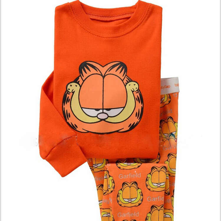 Newest Full Sleeve Cotton Clothing Sets Kids Boys Pyjamas Cartoon Printed Round Neck Tracksuit Sets 2y-7year wear LP033