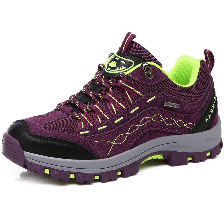 Kaliteli deri Unisex erkekler açık yürüyüş ayakkabıları kadın yürüyüş botları kışlık ayakkabı erkekler Sneakers nefes Trekking ayakkabıları