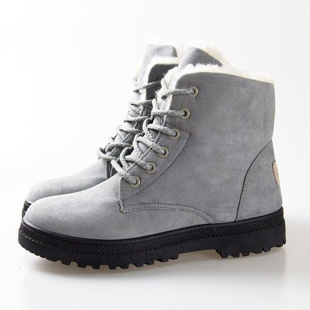 Мода Снег Зимние Ботинки Женщин снегоступы 2016 Женщин Лодыжки Сапоги каблуки Зимняя Обувь
