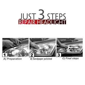 Image 5 - רכב פנס ליטוש פנס מלביני ערכת אנטי שריטה פנס Restorstion ערכת רכב ראש מנורת עדשה משחזר בהירות