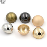 SINUAN Metal Button Round Button Plating Clothes Buttons Dry Cleaning And Washable Handmade Buttons Accessories 50Pcs For Crafts