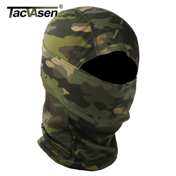 TACVASEN Tactical Camouflage Balaclava Full Face Mask Wargame Hunt Shoot Army Bike Military Helmet Liner Combat Airsoft Gears 2